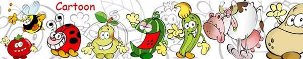 alcuni personaggi in stile cartoon da noi realizzati