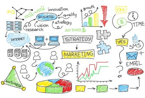 disegni e raffigurazioni schematiche delle soluzioni e dei servizi web della nostra Web Agency